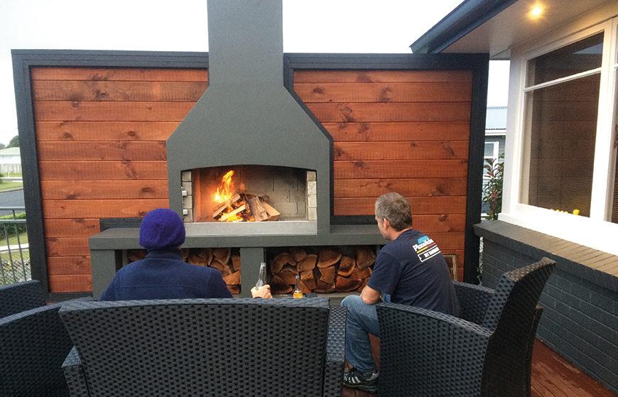 Orange Corporation - Renovation Projects - fireplace construction